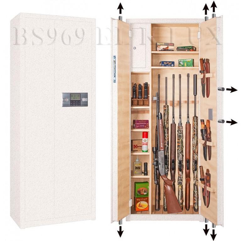 Оружейный сейф с сигнализацией BS969 EL K Lux